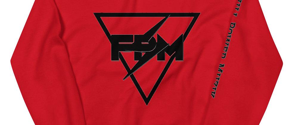 Full Power Muzik Black Logo Print Unisex Sweatshirt