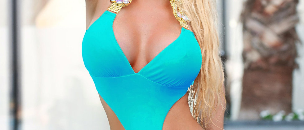 Emma One-Piece Swimsuit - Turquoise