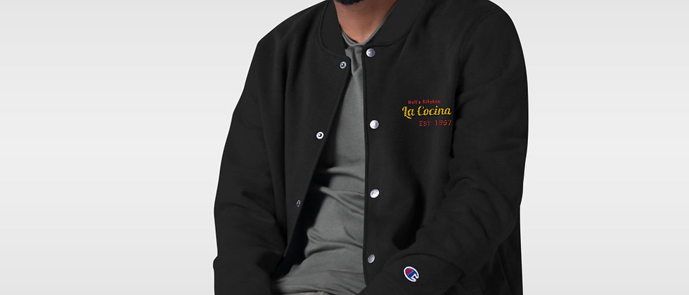 La Cocina Embroidered Champion Bomber Jacket