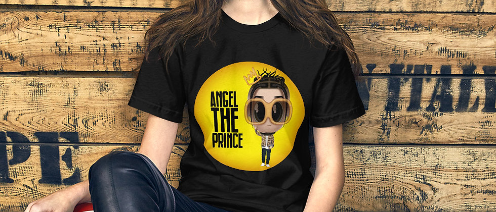 Short-Sleeve Unisex T-Shirt with Artist Angel the Prince