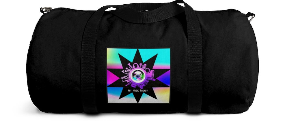 "Black Duffel Bag with ""Evil Eye"" Protector"
