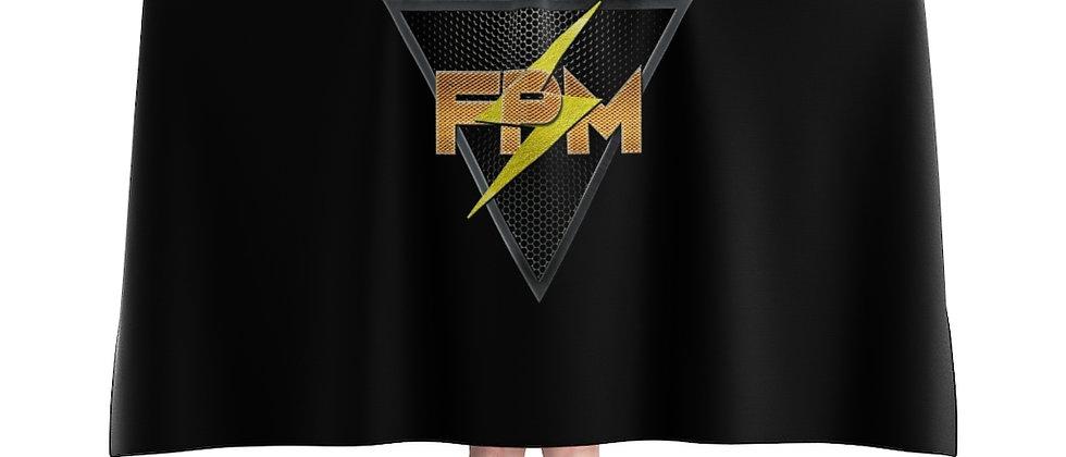 Full Power Muzik Black & Gold Hooded Blanket