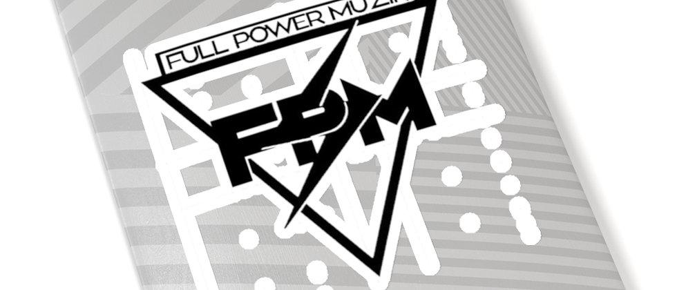 Full Power Muzik Black Kiss-Cut Stickers