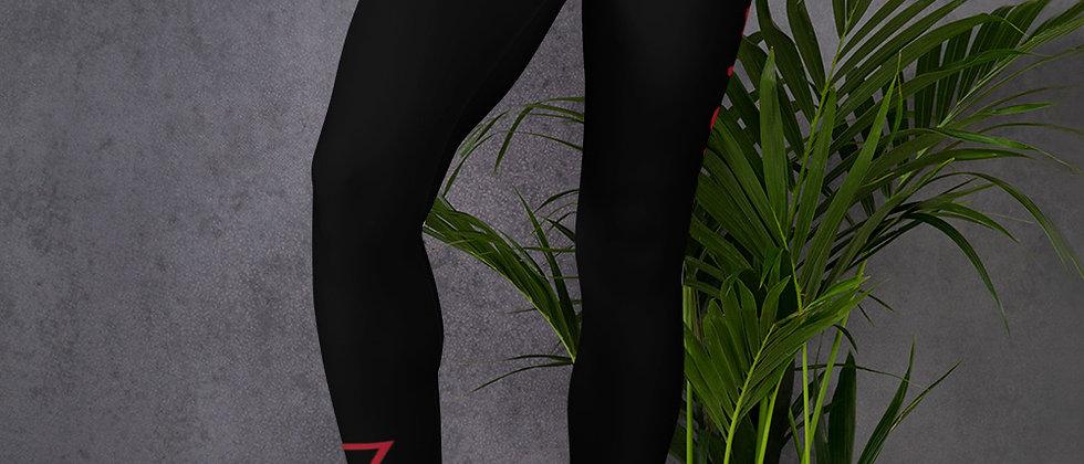 Full Power Muzik Black & Red Leggings