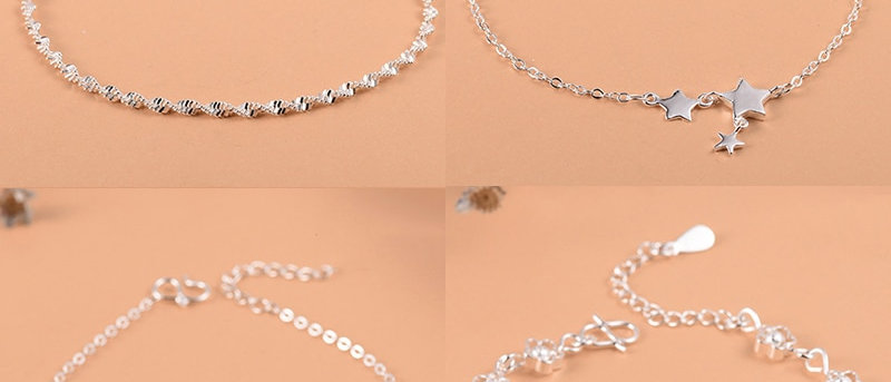 Women Girls Luxury Brand Heart  Anklet
