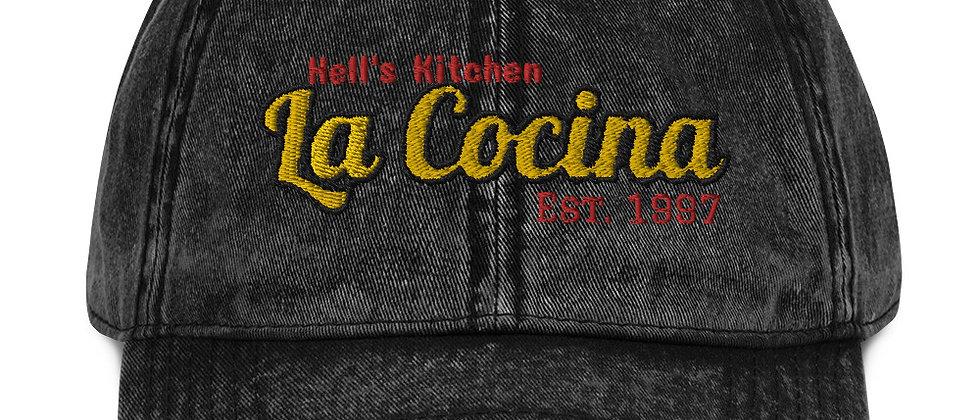 La Cocina Vintage Cotton Twill Cap