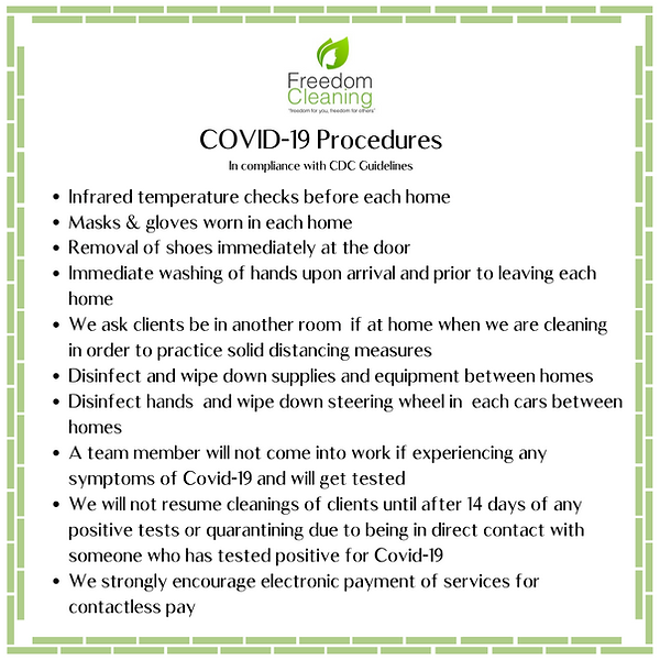 Copy of  Covid-19 Freedom Cleaning Preca