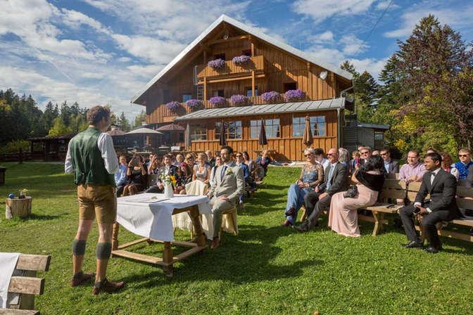 Hochzeit Bayern Schliersee Alm
