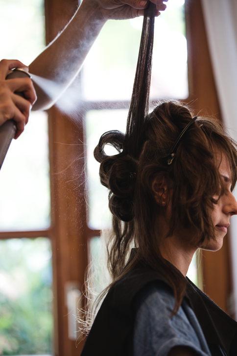 Hairstyling der Braut