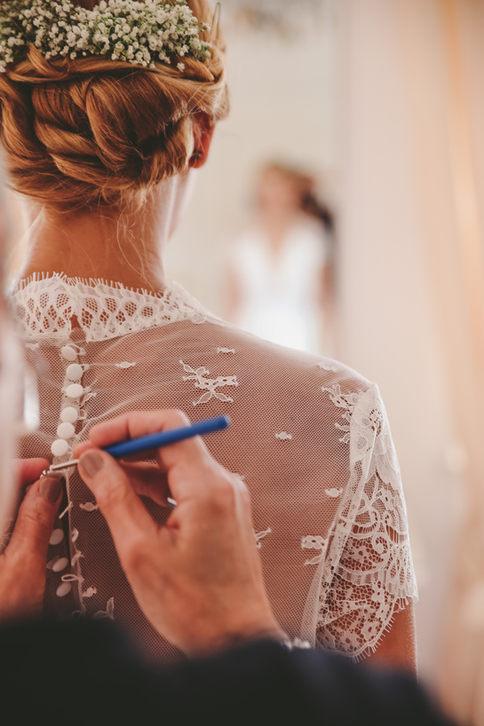 Anprobe Brautkleid