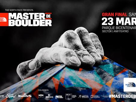 The North Face Master de Boulder; Festival Outdoor que llega el 23 de Marzo al Parque Bicentenario