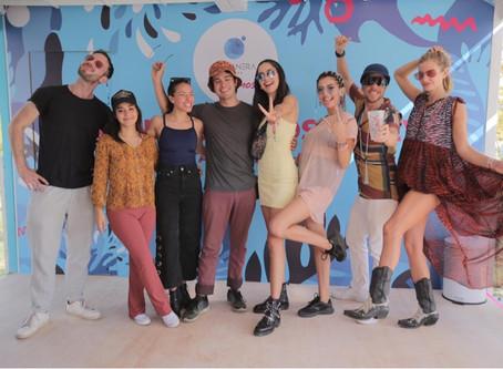 Rostros bailaron para generar energía en stand de Costanera Center en Lollapalooza