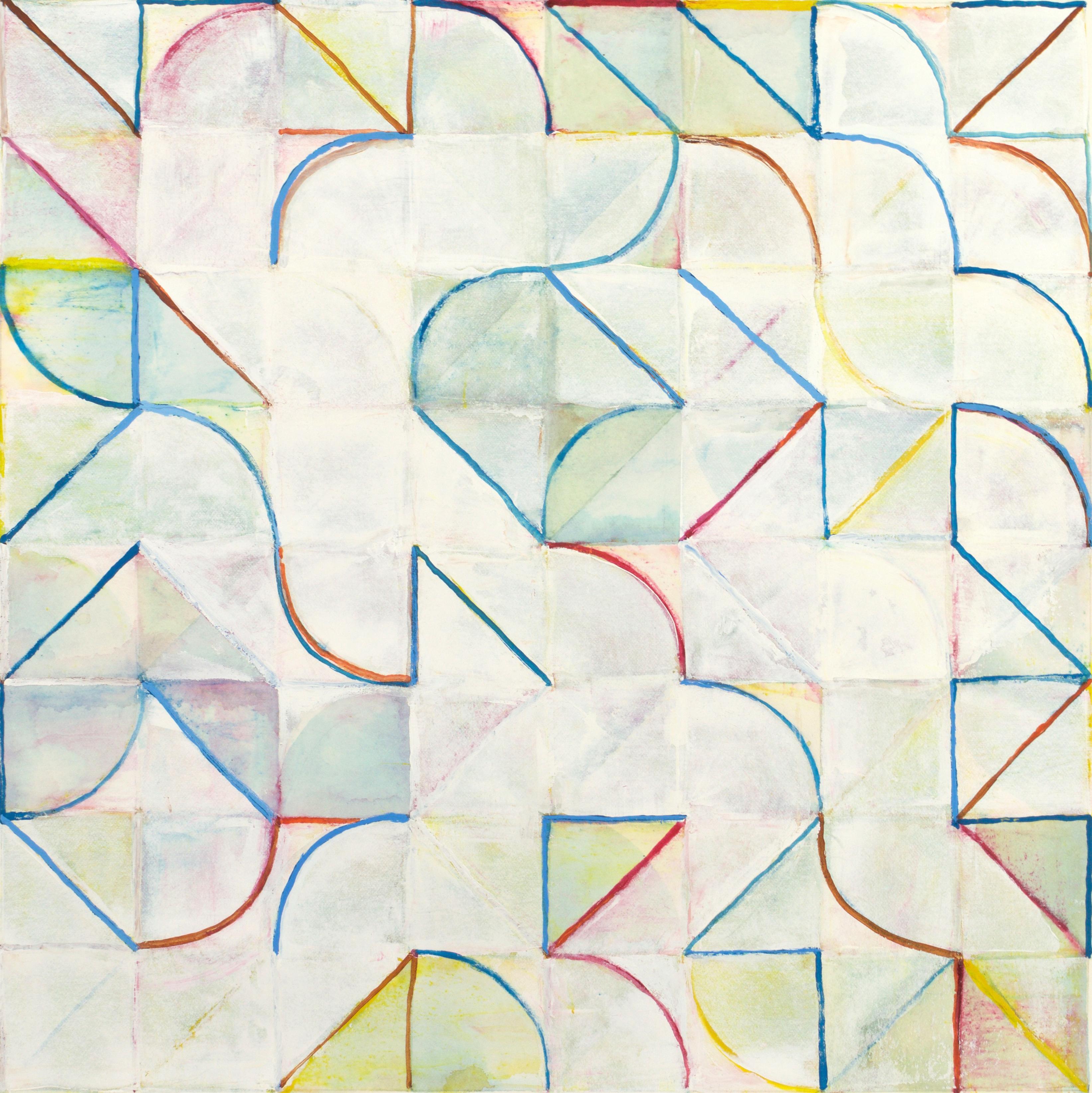 Ellipsis #68, 2016, 15.5x15, Gouache on Paper (Kat Manning Round 2)