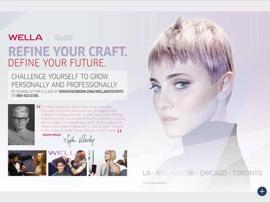 Print Ad for Wella Education in Estetica USA Summer 2016