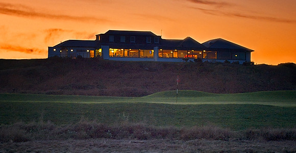 Clubhouse from 15th, with sea.jpg
