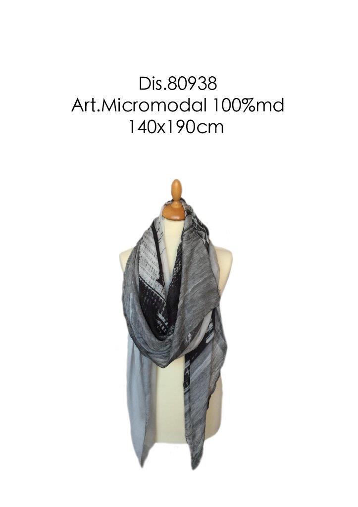 scarf garment dyed