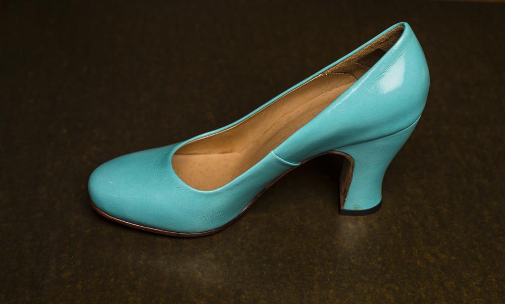 high heels blue