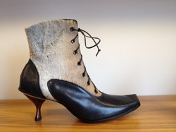 heels leather boots