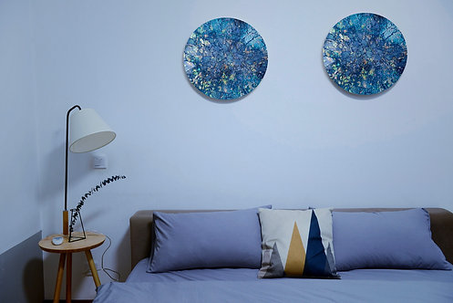 Starry Sky Blue Circular (Made-to-order)