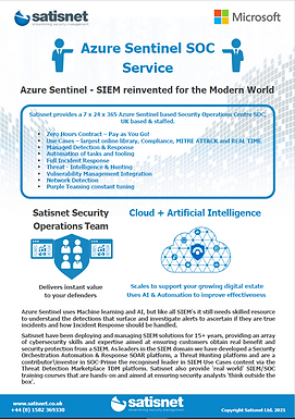 Azure Sentinel SOC Services