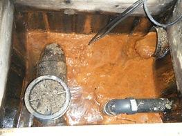 problème d'ocre ferreux provenant du drain français