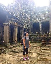 Vanessa Immink at Ankor Wat, Cambodia