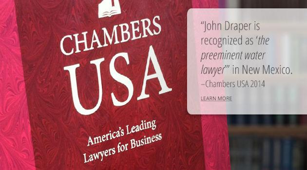 "Chambers & Partners Awards John Draper Its Top ""Senior"