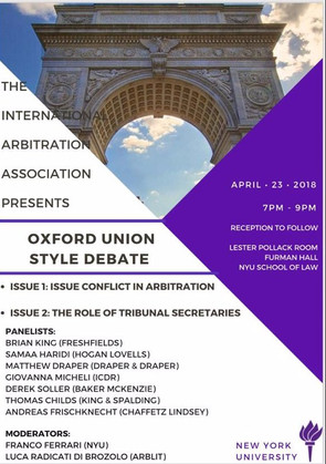Matthew Draper Presents at NYU Law on Issue Conflict Among International Arbitrators