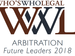 "Matthew Draper Named ""Future Leader"" in Who's Who Legal's 2018 Arbitration Guide"