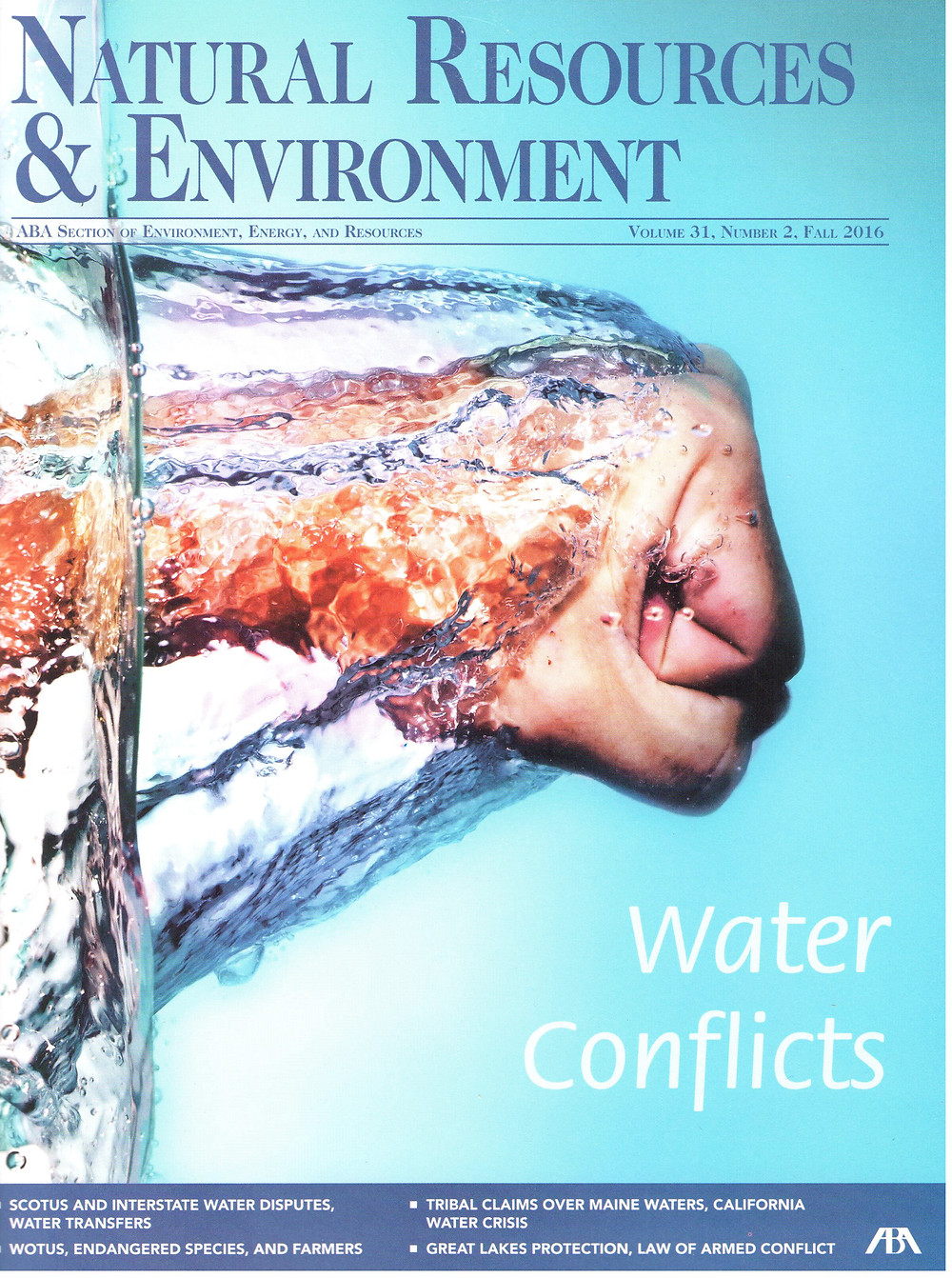 ABA's Natural Resources & Environment Magazine Cover