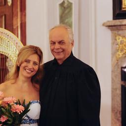 Jana Boušková & Alfred Strejček (recitator) at the Břevnov Monastery Music Festival, 2016