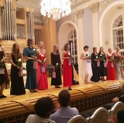 Jana Boušková and her harp class from the Royal Conservatory Brussels in Prague, 2016