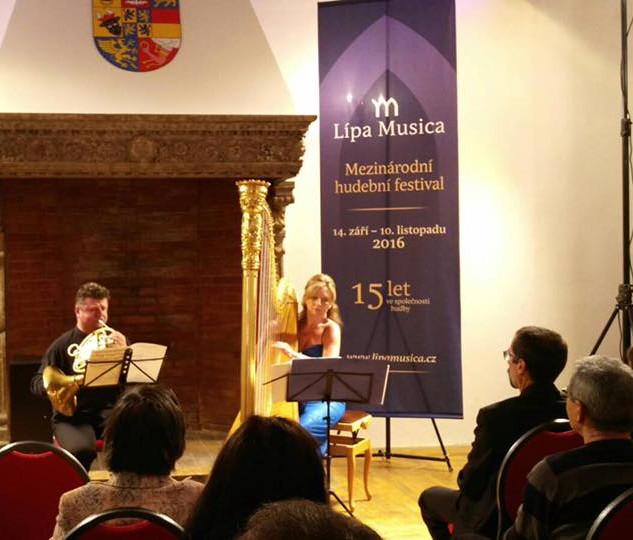 Jana Boušková & Radek Baborák (French Horn) at the IMF Lípa Musica 2016