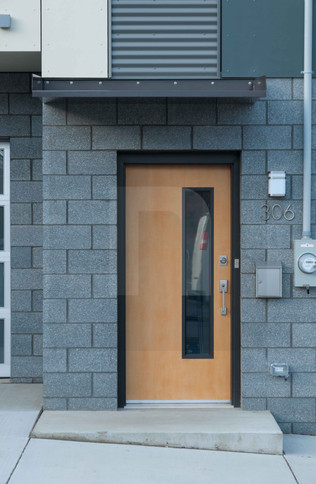 Five on 47th Entry Door