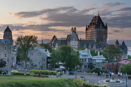 Le Chateau Frontenac Sunset I