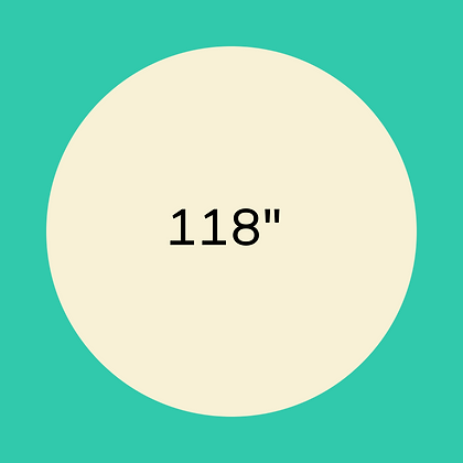 "118"" Ivory round linen"