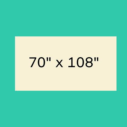 """70"""" x 108"""" Ivory Rectangular linen"""