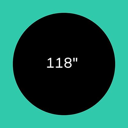 """118"""" Black round linen"""