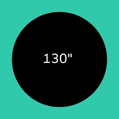 """130"""" Black round linen"""