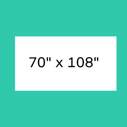 """70"""" x 108"""" White Rectangular linen"""