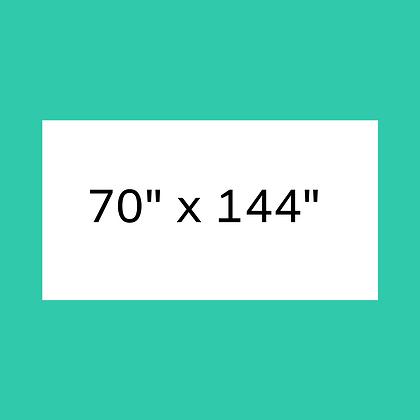 """70"""" x 144"""" White Rectangular linen"""