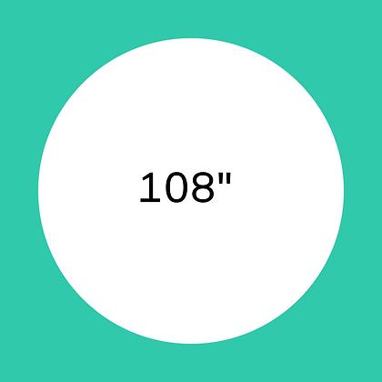 """108"""" White round linen"""