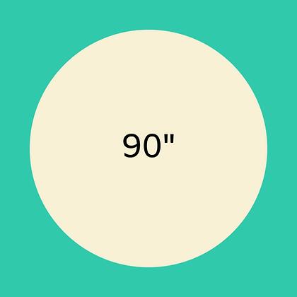 "90"" Ivory round linen"