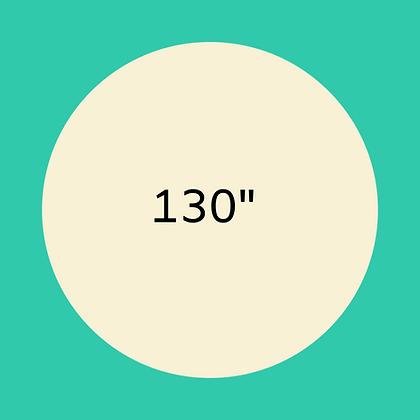 "130"" Ivory round linen"