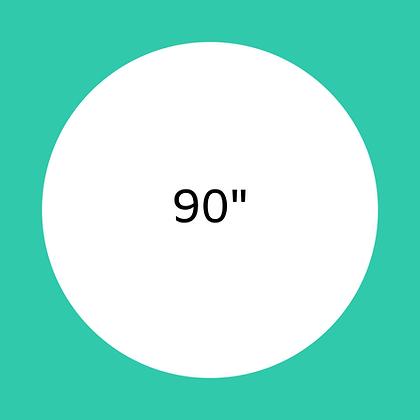 """90"""" White round linen"""