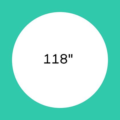 """118"""" White round linen"""