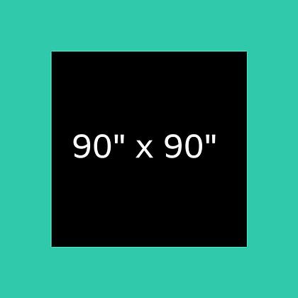 "90"" x 90"" Black Square linen"