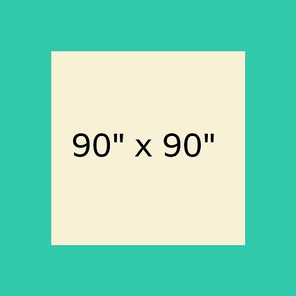 "90"" x 90"" Ivory Square linen"