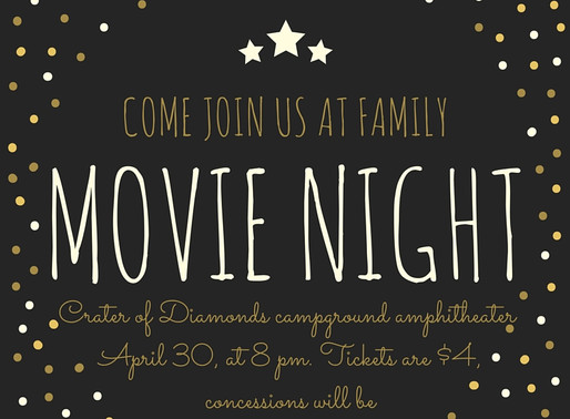 Family Movie Night in Crater of Diamonds very own Amphitheater!