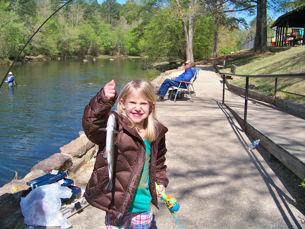 Trout fishing in Arkansas near Crater of Diaomonds